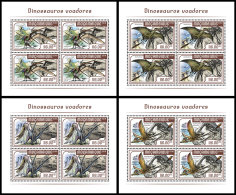 MOZAMBIQUE 2018 MNH** Flying Dínosaurs Flugsaurier Dinosaures Volants M/S - IMPERFORATED - DH1818 - Briefmarken