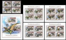 MOZAMBIQUE 2018 MNH** Flying Dínosaurs Flugsaurier Dinosaures Volants 4v+S/S+M/S - IMPERFORATED - DH1818 - Briefmarken