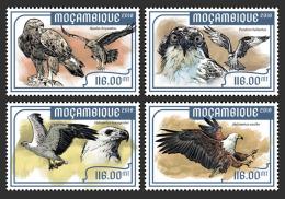 MOZAMBIQUE 2018 MNH** Eagles Adler Aigles 4v - IMPERFORATED - DH1818 - Adler & Greifvögel