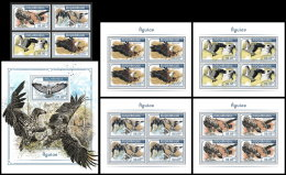 MOZAMBIQUE 2018 MNH** Eagles Adler Aigles 4v+S/S+M/S - IMPERFORATED - DH1818 - Adler & Greifvögel