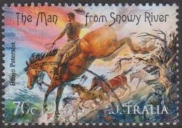 """AUSTRALIA - USED 2014 70c Bush Ballads - Banjo Paterson - """"The Man From Snowy River""""- Horses - Usati"""