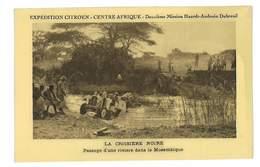 CPA CENTRE AFRIQUE EXPEDITION CITROEN PASSAGE D'UNE RIVIERE - Central African Republic