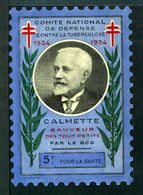 """Tuberculose Antituberculeux - Grand Timbre De 1934  """"5 Fr Pour La Santé"""" - Avec Pochette Neutre - Tout Petit Avec Tiret. - Commemorative Labels"""