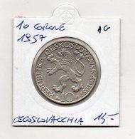 Cecoslovacchia - 1957 - 10 Corone - Argento - (MW1234) - Cecoslovacchia