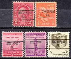 USA Precancel Vorausentwertung Preo, Locals Pennsylvania, Smethport 748, 5 Diff. - Vereinigte Staaten