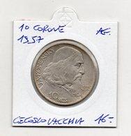 Cecoslovacchia - 1957 - 10 Corone - Argento - (MW1235) - Cecoslovacchia