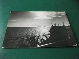 NAVE SHIP CONTROLUCE TRAMONTO ANNULLO CIVITAVECCHIA 1949 - Guerra