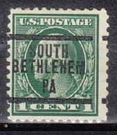 USA Precancel Vorausentwertung Preo, Locals Pennsylvania, South Bethlehem 207, Perf. 11x11, Perf. Not Perfect - Vereinigte Staaten