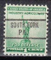 USA Precancel Vorausentwertung Preo, Locals Pennsylvania, South Fork 733 - Vereinigte Staaten