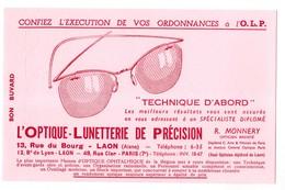Buvard Optique Lunetterie De Précision Monnery à Laon 13 Rue Du Bourg Aisne Opticien Lunettes - Buvards, Protège-cahiers Illustrés