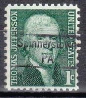 USA Precancel Vorausentwertung Preo, Locals Pennsylvania, Spinnerstown 843 - Vereinigte Staaten