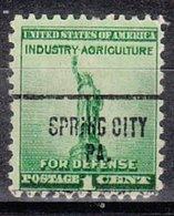 USA Precancel Vorausentwertung Preo, Locals Pennsylvania, Spring Chity 704 - Vereinigte Staaten