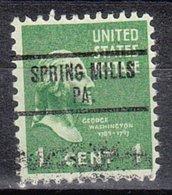 USA Precancel Vorausentwertung Preo, Locals Pennsylvania, Spring Mills 734 - Vereinigte Staaten