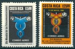 Costa Rica - 1981 - Yt PA 815/816 - Journée Mondiale Des Télécommunications - ** - Costa Rica