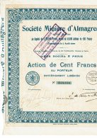 75-MINIERE D'ALMAGRERA. 1926. Capital 5,5 MF - Other