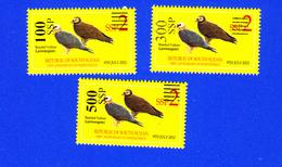 SOUTH SUDAN Stamps Unissued Proof Set Overprint On 2 SSP Birds Bearded Vulture Südsudan Soudan Du Sud - Sudan Del Sud
