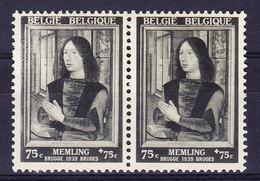 BELGIQUE COB 512, * MH, 1 Clair Et 1 Foncé Se Tenant.  (3T574) - Errors And Oddities