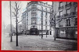 Cpa 92 BOULOGNE SUR SEINE Anime Bld De Strasbourg, Credit Industrielle Societe Generale Tram, Pas Courant - France