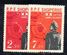 278 - 490 - ALBANIA 1963 ,    Yvert N. 614/615  *** - Albania