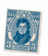 Irlande / N 56 / 3 P Bleu / NEUF Avec Trace De Charnière - 1922-37 Irish Free State