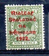 Irlande / N 19 / 9 P  Vert / NEUF** - 1922-37 Irish Free State