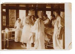 """ADINKERKE """"De Panne"""" - Hôpital Militaire Belge CABOUR - Salle D'opération - Photo Format: 18/12cm - 2 Scans - De Panne"""