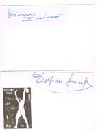AUTOGRAPHES - JEUX OLYMPIQUES - ITALIE - DELFINO - ESCRIME - DIBIASI - NATATION - - Autographs