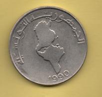 TUNEZ - 1 Dinar 1990 - Túnez