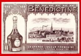 """(Réf : C395) BUVARD PROTÈGE-CAHIERS ILLUSTRÉS  """"VIEUX PAPIERS """"  BÉNÉDICTINE LA GRANDE LIQUEUR FRANÇAISE - Liquor & Beer"""