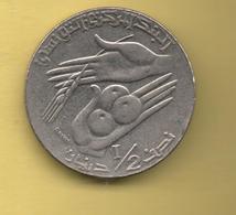 TUNEZ - 1/2 Dinar 1997 - Túnez