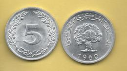 TUNEZ - 5 Millim 1960 - Túnez