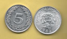 TUNEZ - 5 Millim 1983 - Túnez