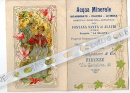 CALENDRIER  ITALIEN 1901   A. CAMPANARI   VIA GHIBELLINA   FIRENZE - Calendars