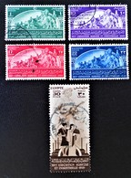 ROYAUME - 16 EME EXPO HORTICOLE AU CAIRE 1949 - OBLITERES  - YT 264/68 - MI 329/33 - Egypt