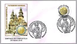 SANTIAGO DE COMPOSTELA - PATRIMONIO MUNDIAL UNESCO - World Heritage. SPD/FDC Santiago De Compostela, Galicia, 2018 - Cristianismo