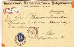 Russie - Lettonie - Lettre Recom De 1901 - Oblit Riga - Exp  Vers Riga - Briefe U. Dokumente
