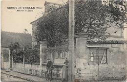 60 CROUY EN THELLE Mairie Et école - France