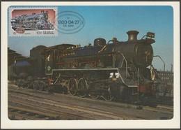 Stoomlokomotiewe, Steam Locomotive, South Africa, 1983 - Postcard With Stamp - Trains