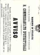 Provincia Di Vicenza,Distretto Di Barbarano. Avviso Per Posto Vacante Di Medico Nel Comune Di San Germano 1866 - Decreti & Leggi