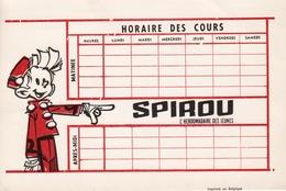 BUVARD - SPIROU HORAIRE DES COURS - Kids