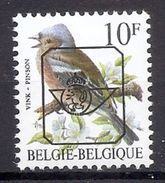 BELGIE * Buzin  PRE * Nr 834 P6a * Postfris Xx * DOF WIT PAPIER - WITTE GOM - 1985-.. Oiseaux (Buzin)