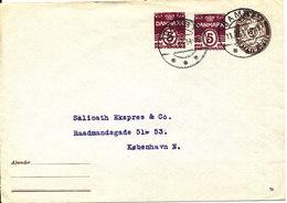 Denmark Postal Stationery Cover 20 öre Brown + 2 X 5 öre Red Gamby 19-3-1958 - Entiers Postaux