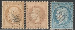 France étoile 30 Sur Yvert 21, 28A, 60A Oblit Sans Défaut Cote EUR 64 (numéro Du Lot 425O) - 1849-1876: Periodo Classico