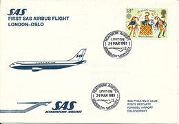 Great Britain First SAS Flight Airbus London - Oslo 29-3-1981 - 1952-.... (Elizabeth II)