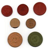 J.M. RARE LOT DE 7 JETONS DES MINES DU CHILI GATICO CURANILAHUE... - Monetary /of Necessity