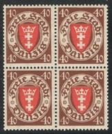 Danzig 243** Bloc De 4 Sans Charnière TB Sans Défaut. Cote EUR 200 (numéro Du Lot 3D) - Dantzig