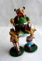 RARE FIGURINE ASTERIX HOBBY PRODUCT 1991 ABRARACOURCIX ET SES PORTEURS PEINT - Asterix & Obelix