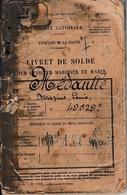 Toulon 1894/1918 - MARINE NATIONALE - ÉQUIPAGES DE LA FLOTTE - Livret De Solde - - Historical Documents