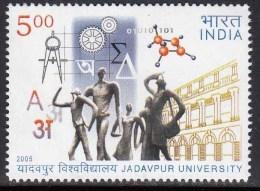 India MNH 2005, Jadavpur University, Education, Science Symbols, Mathematics, Geometry, Physics , Etc., - Ungebraucht