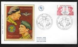 FDC Lettre Premier Jour Paris Le 27/10/1973 N° 1773 Commando Bourgoin Kieffer   TB .soldé à Moins De 20 %! ! ! - FDC